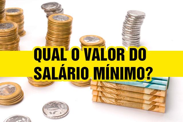 Qual o valor do salário Mínimo 2016
