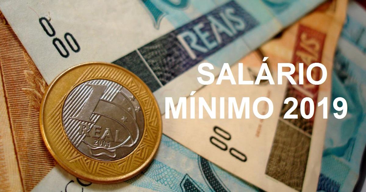 Resultado de imagem para salario minimo 2019