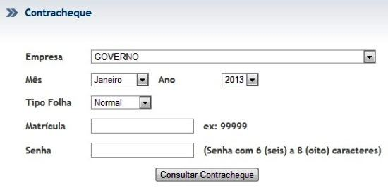 Contracheque portal do Servidor PE