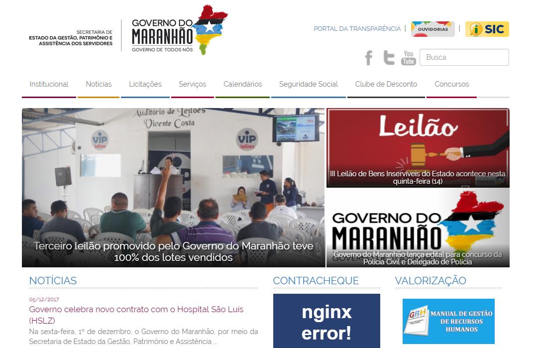 Portal do Servidor MA Contracheque