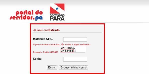 Contracheque Portal Servidor PA