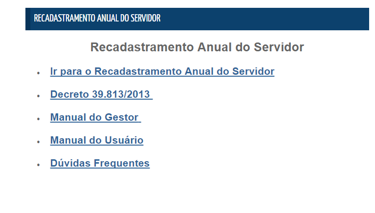 Recadastramento Portal do Servidor PE