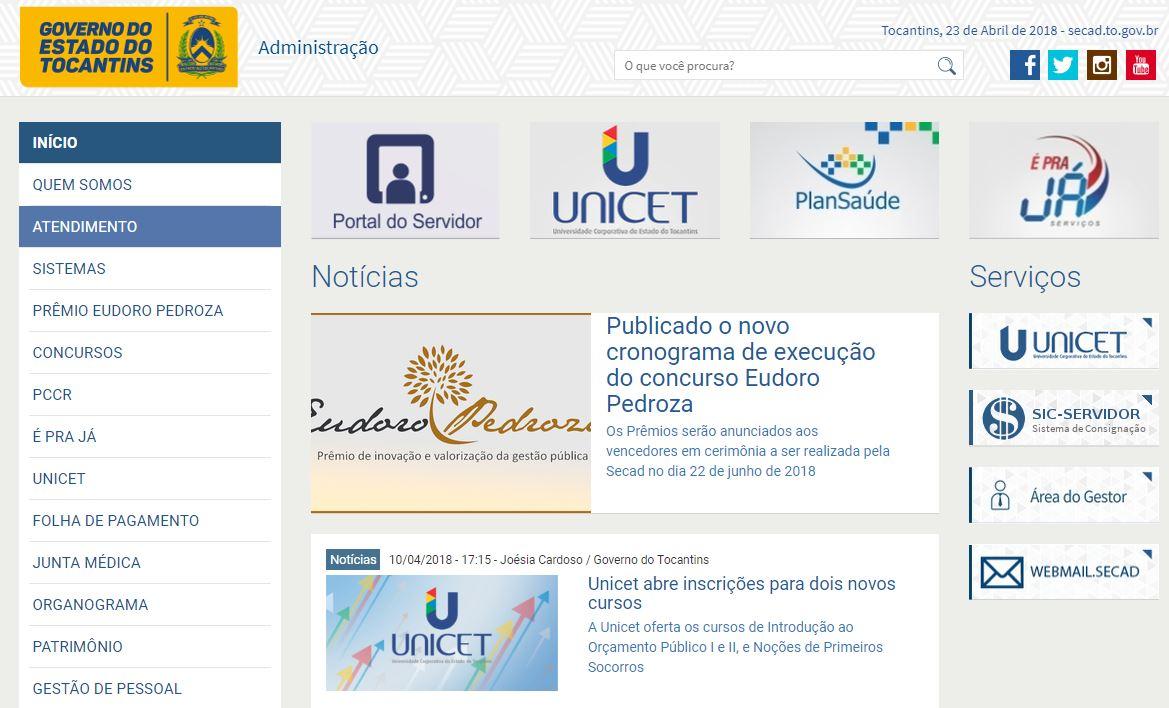 Portal do Servidor TO