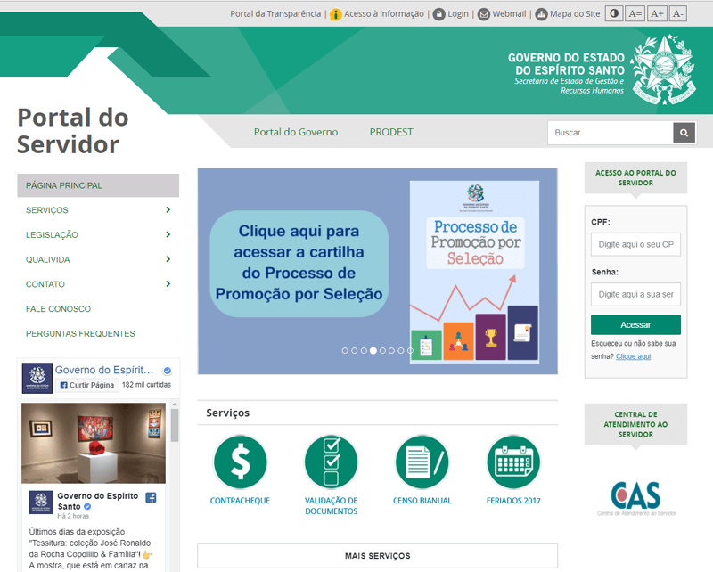 Portal do Servidor ES