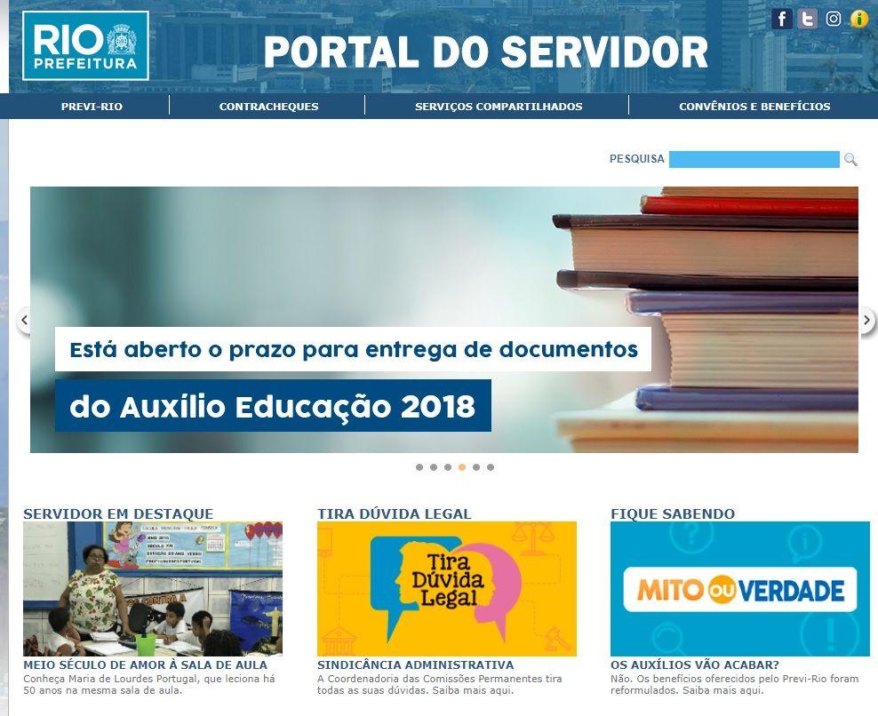 Portal do Servidor RJ